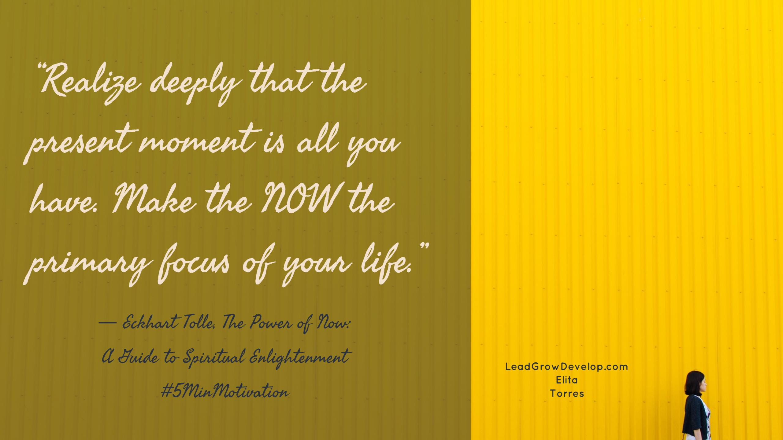 The Power Of Now Quotes The Power Of Now Quote  Lead Grow Develop Shares Insights On