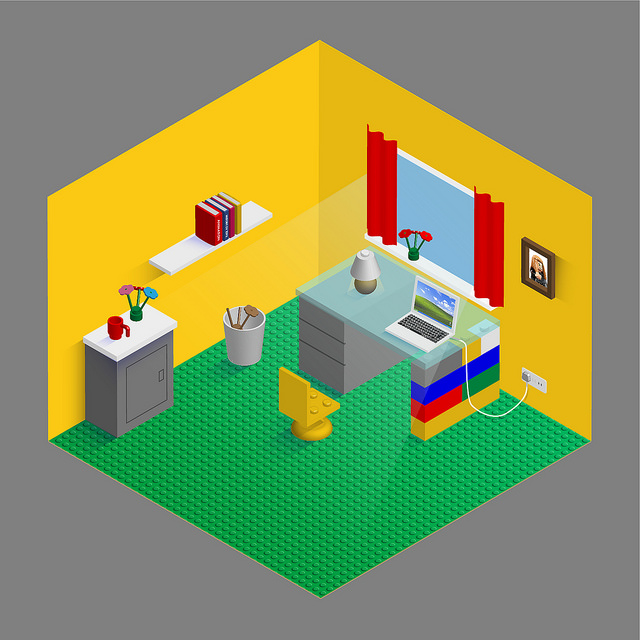 Lego Inspired Home Office